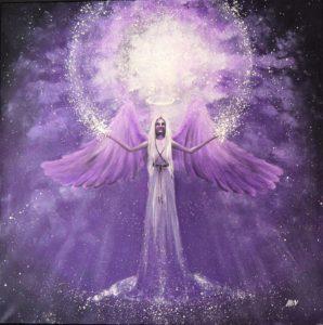anděl fialová